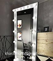 Зеркало с подсветкой напольное, Зеркало для визажиста и домашних интерьеров, Ростовое зеркало,Зеркало