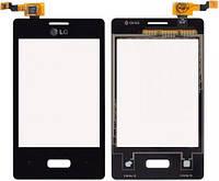 Сенсор (тачскрин) LG Optimus L3 E400 Black