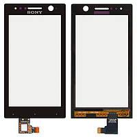 Сенсор (тачскрин) Sony Xperia U ST25i Black