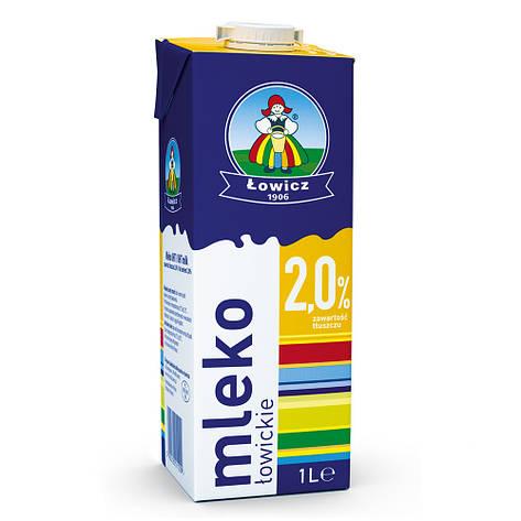 Молоко 2% LOWICZ Mleko 1 л , фото 2