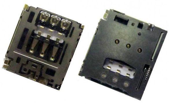 Коннектор SIM-карты Sony Xperia M2 Dual D2302 / D2303 / D5102 / D5103 / D5106 / M50w