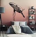 Виниловая наклейка Могучий кит (рыбы, касатки, морская жизнь), фото 4