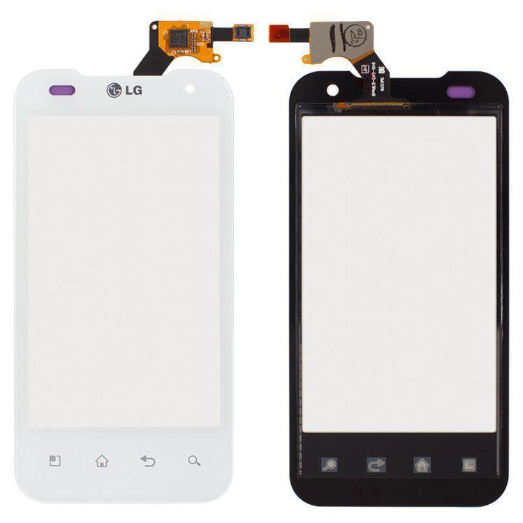 Сенсор (тачскрин) LG 2X P990, G2x P999 White