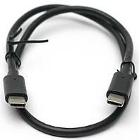Кабель USB PowerPlant Type-C – Type-C 0.5м (KD00AS1255)