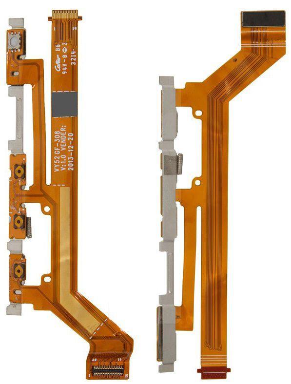 Шлейф Sony Xperia M2 D2302 Dual / D2303 / D2305 / D2306 с кнопкой включения и регулировки громкости