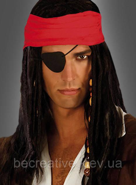 Черная повязка на глаз для пиратских костюмов