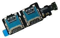 Шлейф Samsung G800H Galaxy S5 mini з роз'ємом на дві SIM-карти
