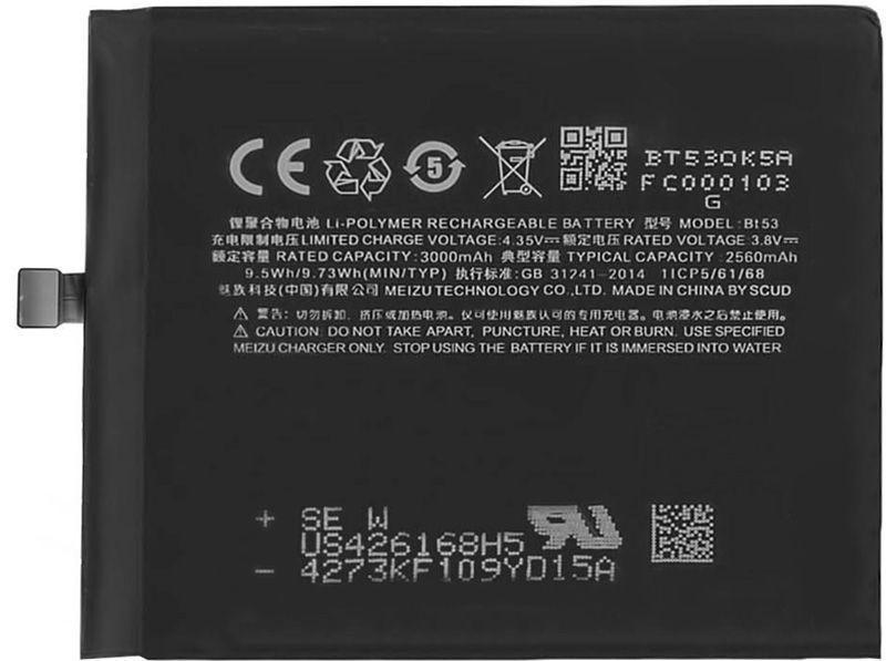 Акумулятор Meizu Pro 6 / BT53 (2560 mAh) 12 міс. гарантії