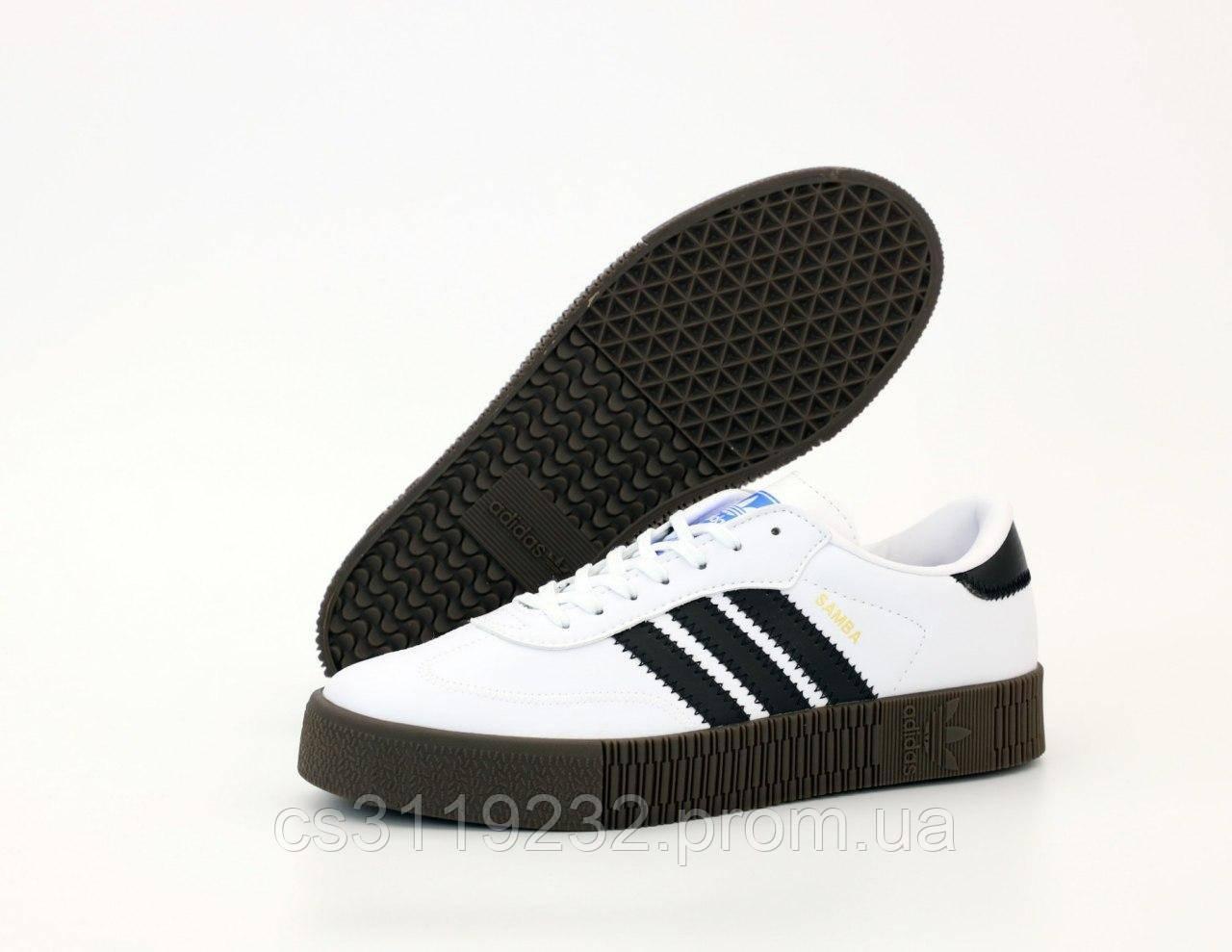Мужские кроссовки Adidas Samba (белые)
