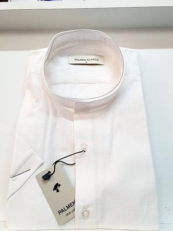 Рубашка короткий рукав Palmen лён стойка, фото 2