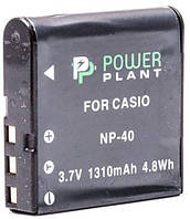 Аккумулятор для фотоаппарата Casio NP-40 (1310 mAh) DV00DV1044 PowerPlant, фото 1