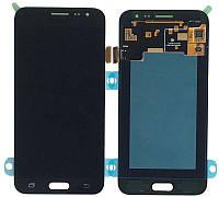 Дисплей (экран) для телефона Samsung Galaxy J3 (2016) J320H + Touchscreen (Super AMOLED, original) Black