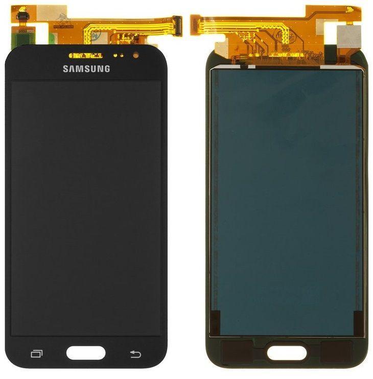 Дисплей (екран) для телефону Samsung Galaxy J2 J200, J200F + Touchscreen (OLED, high copy) Black