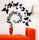Интерьерная наклейка на стену Вихрь бабочек (махаон, спираль, метелики), фото 4