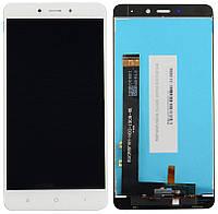 Дисплей (экран) для телефона Xiaomi Redmi Note 4 MediaTek + Touchscreen (original) White