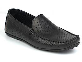 Летние мягкие черные мокасины кожаные мужская обувь больших размеров Rosso Avangard M4 Black Flotar Perf BS