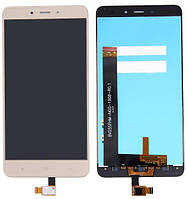 Дисплей (экран) для телефона Xiaomi Redmi Note 4 MediaTek + Touchscreen (original) Gold