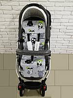 Матрас в прогулочную коляску Ok Style Кокос Совушки (Салатовые), фото 1