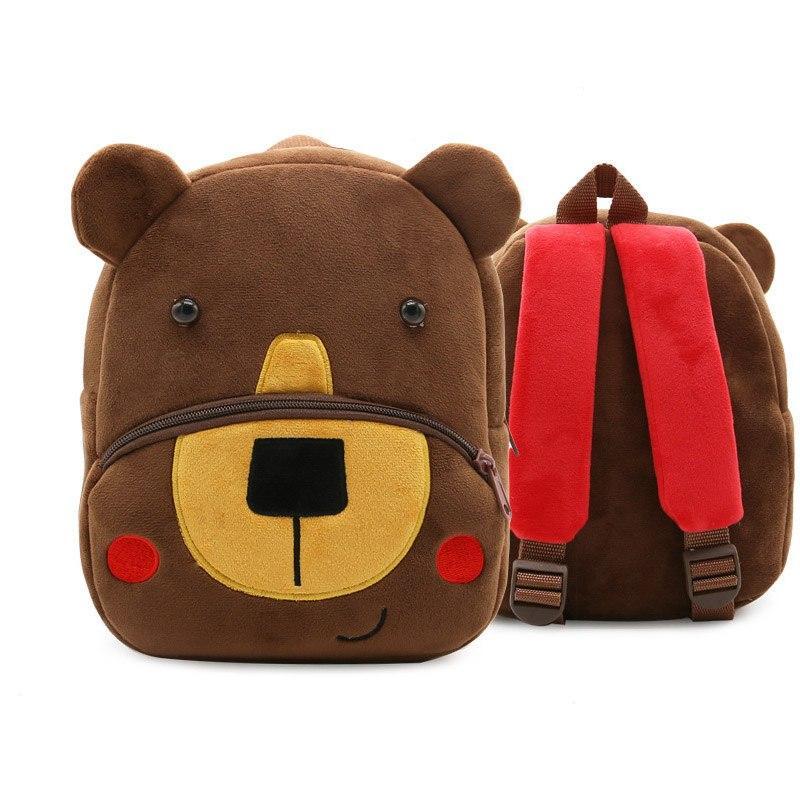 Рюкзак велюровый Мишка