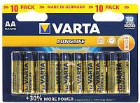 Батарейки Varta AA (LR6) Longlife 10шт, фото 1