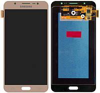 Дисплей (экран) для телефона Samsung Galaxy J7 (2016) J710F, J710FN, J710H, J710M + Touchscreen (Super AMOLED, original) Gold