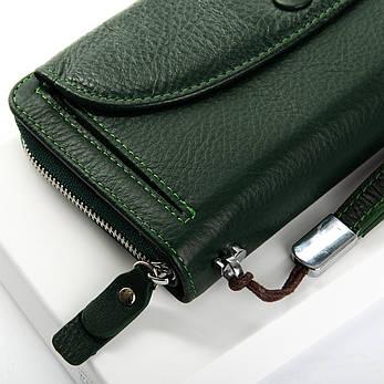 Жіночий гаманець шкіряний Зелений Classic DR. BOND WS-22 темно-зелений, фото 2