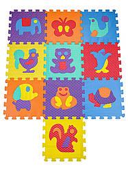 Текстурный Детский массажный коврик мозаика мягкий Звери Eva M 2617