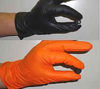Нітрилові рукавички помаранчеві 100 шт, розмір XL, фото 1