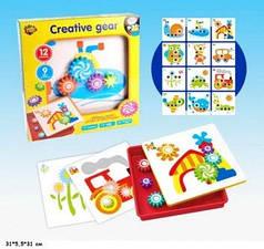 Детская развивающая мозаика-конструктор с шестеренками Synergy Trading 3569