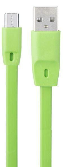 Кабель USB Optima Flat Speed Micro USB Green (С-014)