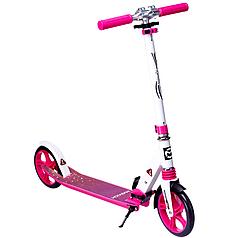 Складной городской самокат двухколесный алюминиевый Maraton Sprint (розовий)
