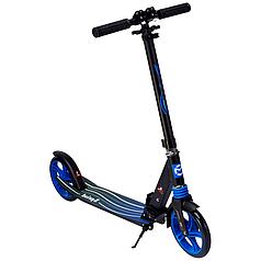Городской двухколесный складной самокат алюминиевый Maraton Sprint (синий)