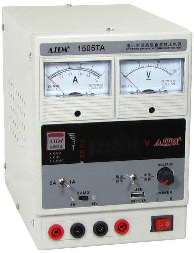 Лабораторный блок питания Aida 1505TA 5A 15V
