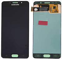Дисплей (экран) для телефона Samsung Galaxy A7 A700 (2015), A700F, A700FD, A700K, A700S, A700L, A700H + Touchscreen (Super AMOLED, original) Black