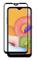 Защитное стекло для Samsung Galaxy A01 (2019) Full Glue, цвет черный