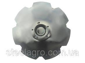 Диск бороны Lemken Gigant 10S, Gigant 12S  D-620 s-6мм, 5 отв, кв13мм ст30Mnb5  Лемкен Гигант (34910034)