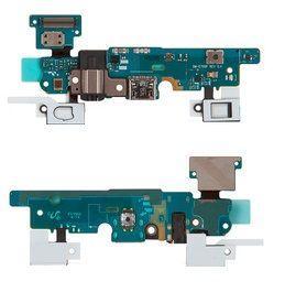 Шлейф Samsung E700F Galaxy E7 нижняя плата с разъемом зарядки и наушников, кнопкой  Home, кнопками сенсора и микрофоном Original