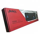 Комплект беспроводная компьютерная игровая клавиатура и мышь Jedel WS880, фото 8