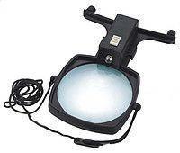 Лупа ручная, настольная Magnifier MG11В-3 100мм/2.5х с подсветкой