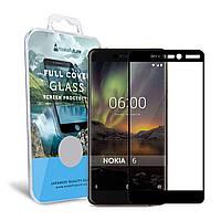 Защитное стекло MakeFuture Full Cover Nokia 6 2018, 6.1 Black (MGFC-N618B)