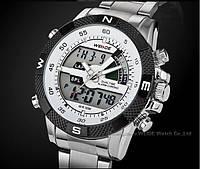 Мужские элитные спортивные часы WEIDE Metal Белые, фото 1