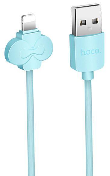 Кабель USB Hoco X18 Butterfly Lightning Sky blue