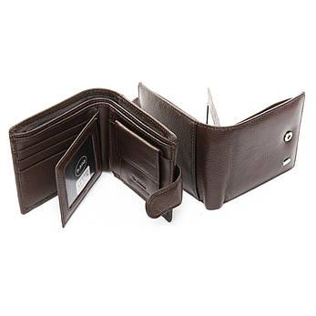 Мужской кошелек Classic кожа DR. BOND M14 коричневый, фото 2