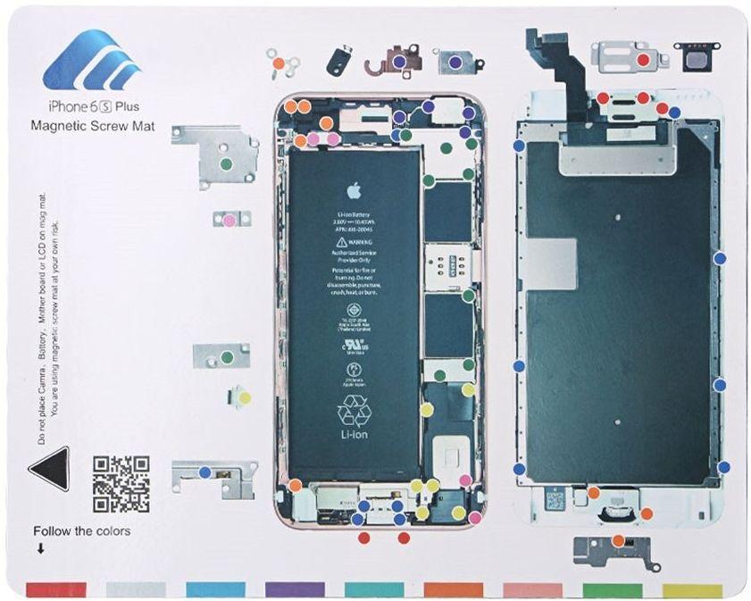 Магнитный мат для раскладки винтов при разборке  iPhone 6S Plus  MECHANIC
