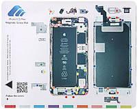 Магнитный мат для раскладки винтов при разборке  iPhone 6S Plus  MECHANIC, фото 1