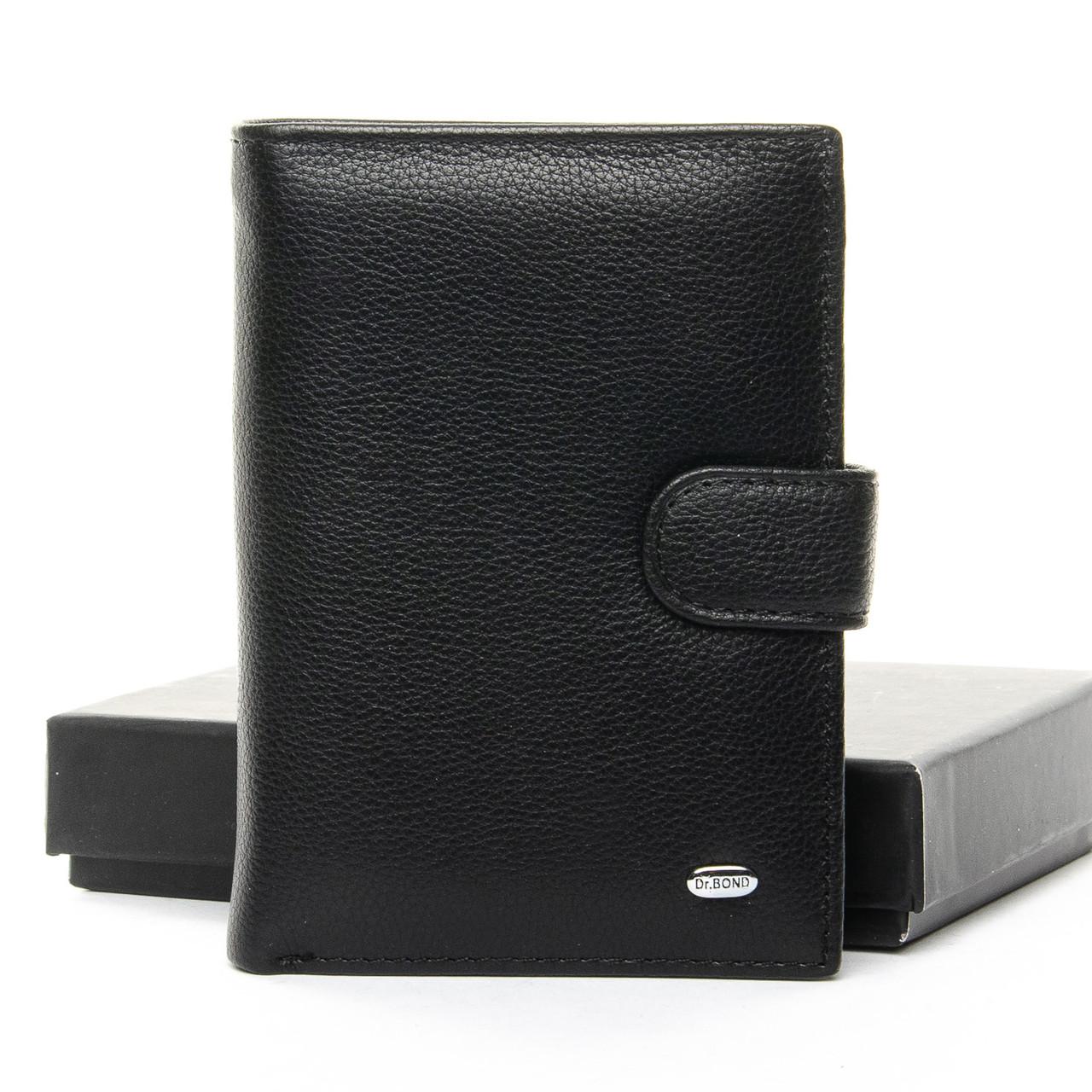 Чоловічий гаманець Classic шкіра DR. BOND M25-1 чорний