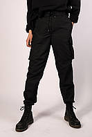 Штаны Джоггеры карго черные, фото 1