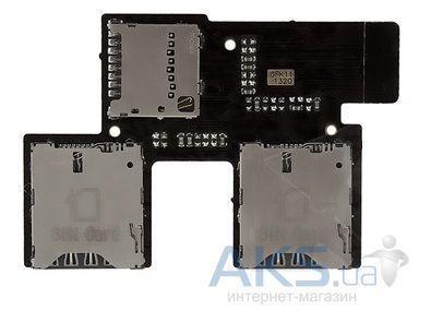 Шлейф HTC Desire 700 Dual з коннектором SIM-карти і карти пам'яті