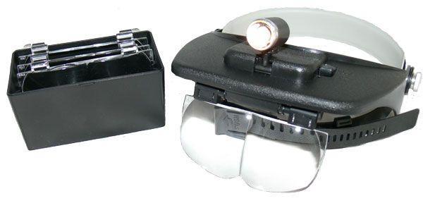 Лупа бинокулярная (налобная) SIGETA Light Head Magnifying Glass 3.5х с подсветкой