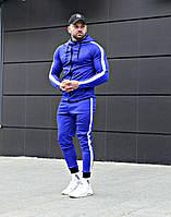 Спортивный костюм мужской стильный с лампасами Asos tech-diving (синий)